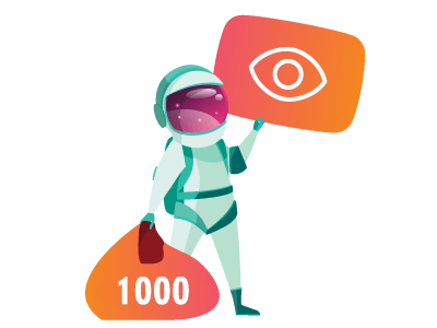 Real 1000 YouTube views